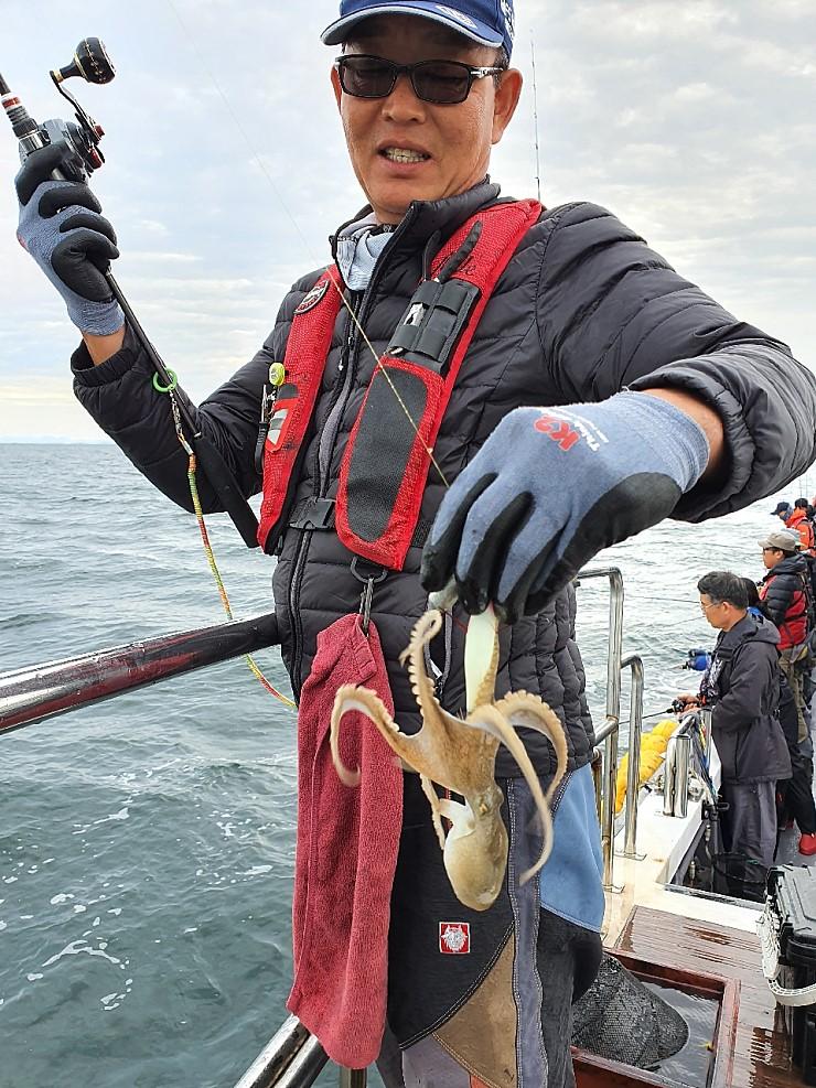 서해 바다 10월18일 대천항 제우스호 쭈,갑 조행기 입니다
