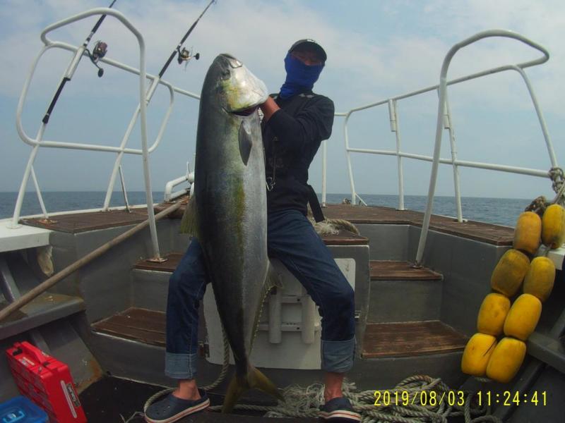 8월3일 진도빅마린호 복사초 최대어 대부시리143cm