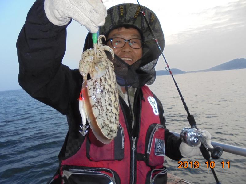 정원호 10월 11일 갑오징어 조황 입니다.